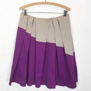 ANTHRO | left of center pleated skirt